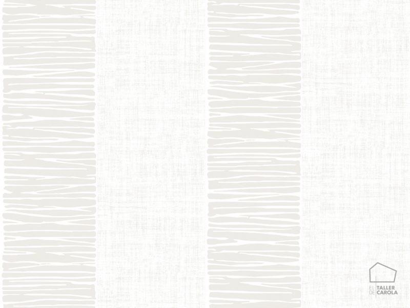 Papel pintado rayas texturas beige el taller de carola for Papel pintado beige