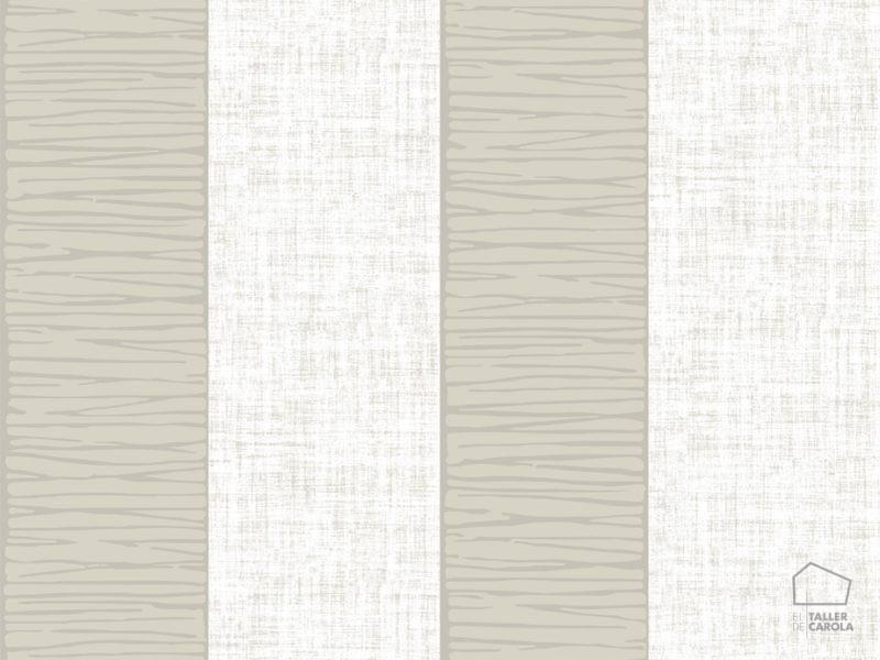 Papel Pintado Rayas Texturas Topo - El Taller de Carola