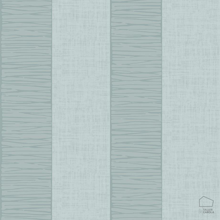 Papel pintado rayas texturas turquesa el taller de carola - Papel pintado turquesa ...