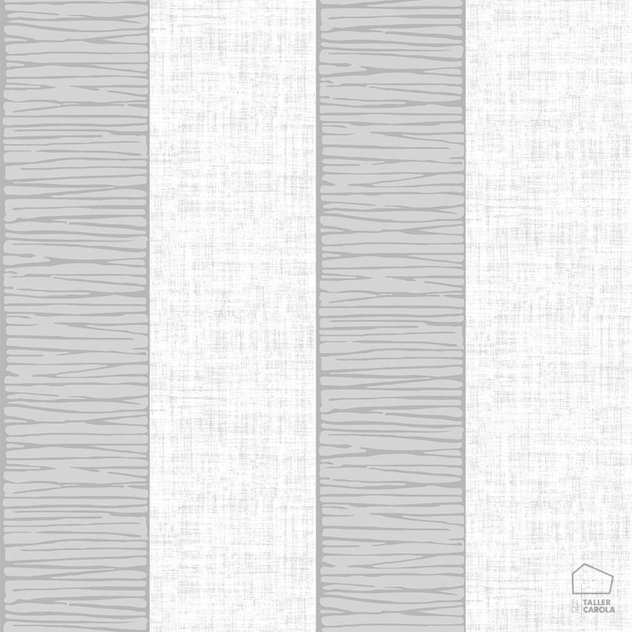 Papel pintado rayas texturas gris el taller de carola - Papel pintado gris ...