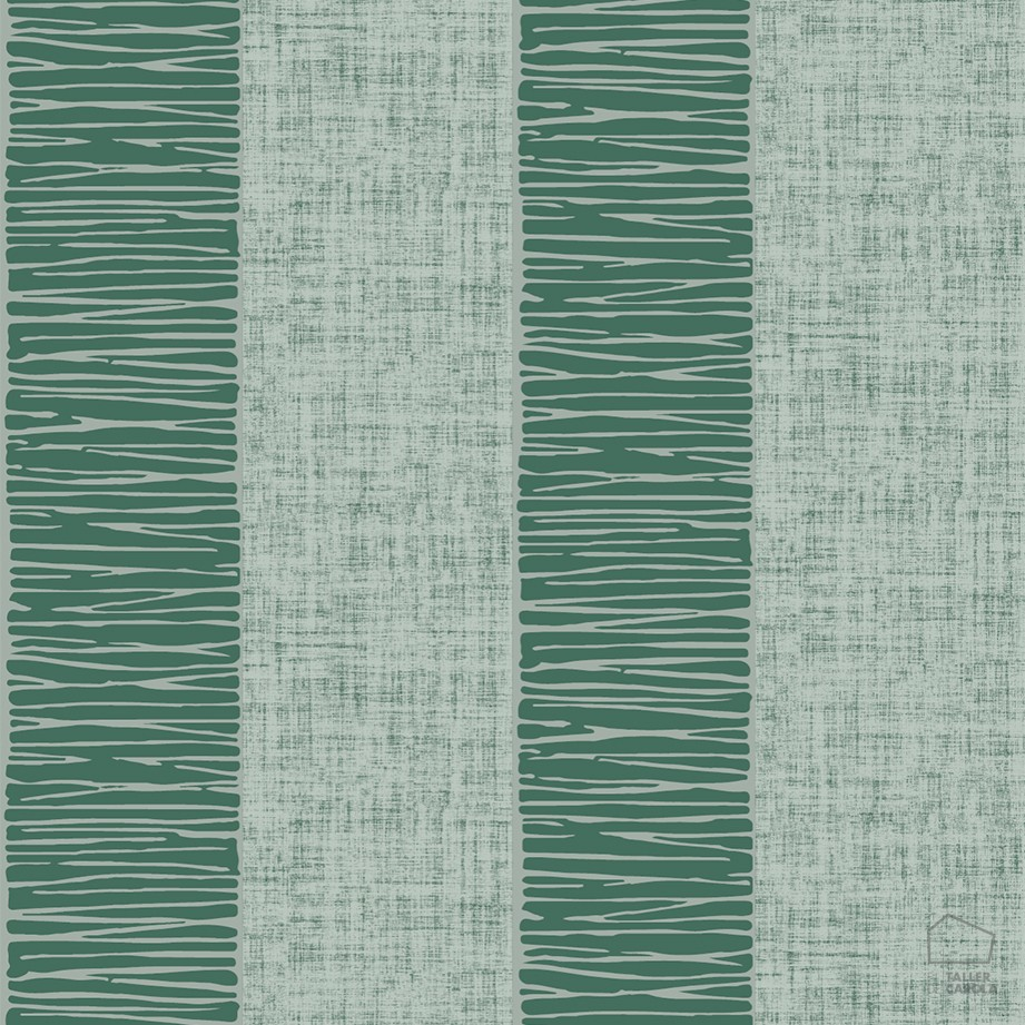Papel pintado rayas texturas verdes el taller de carola for Papel pintado rayas verdes