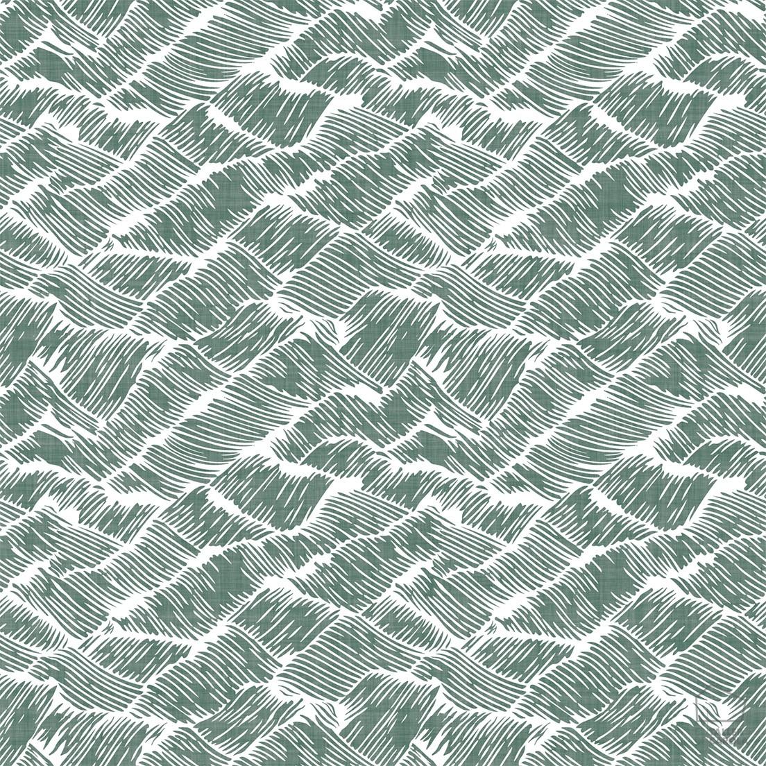 Papel pintado aug estampado olas verde el taller de carola for Papel pintado estampado