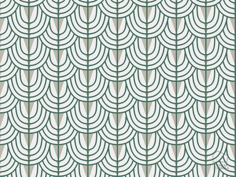 069cam6600045 Green Geometric Wallpaper