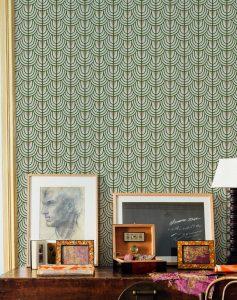 069cam6600045 Papel Pintado Geometrico Verde