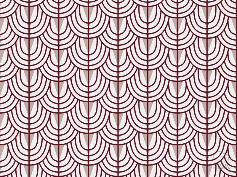 069cam6600046 Papel Pintado Geometrico Rojo