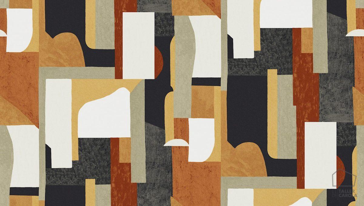 PAPEL PINTADO BOL Geométrico Abstracto Caldera