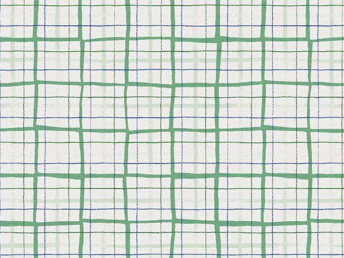 Papel Pintado RUT Cuadros Verde