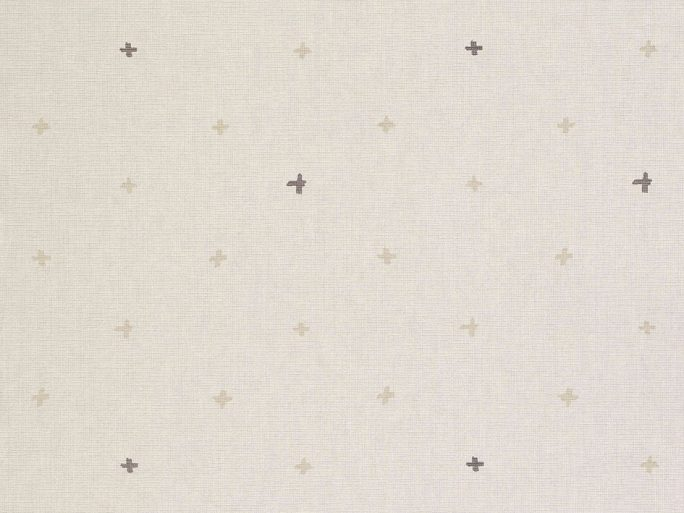 069ine_cro6900011 Papel Pintado Geometrico Cruces Beige