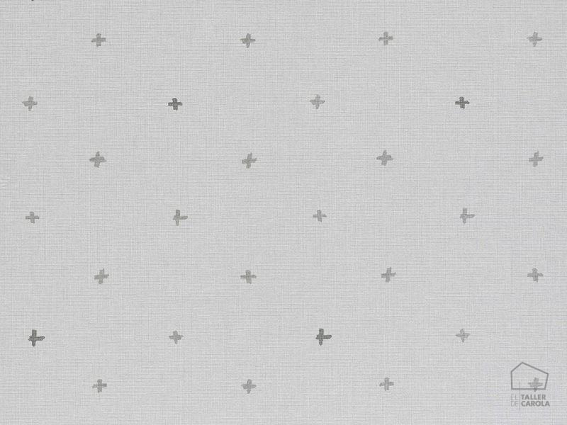 069ine_cro6900021 Papel Pintado Geometrico Cruces Gris
