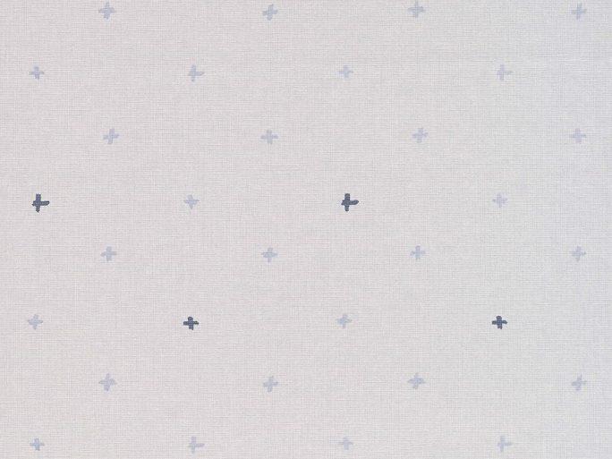 069ine_cro6900031 Papel Pintado CRO Geométrico Cruces Azul