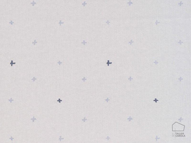 069ine_cro6900031 Papel Pintado Geometrico Cruces Azul