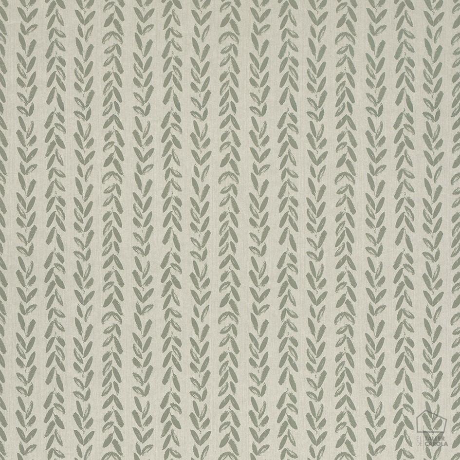 Papel pintado epi textura trenza verde el taller de carola for Papel pintado estampado
