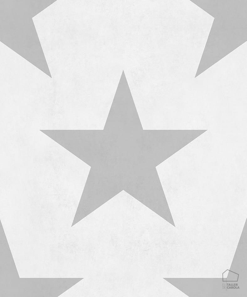 Papel Pintado Infantil Estrella Gris