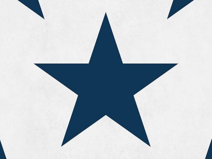 Papel Pintado Infantil Estrella Azul