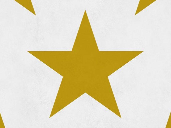 Papel Pintado Infantil Estrella Mostaza