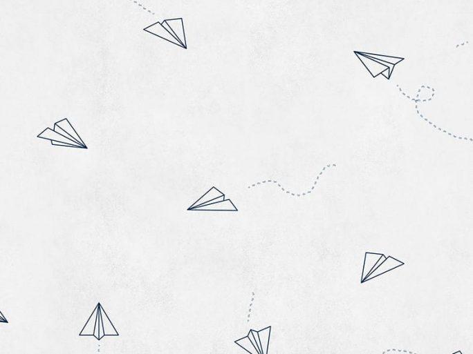 Papel Pintado Avioncitos Azul