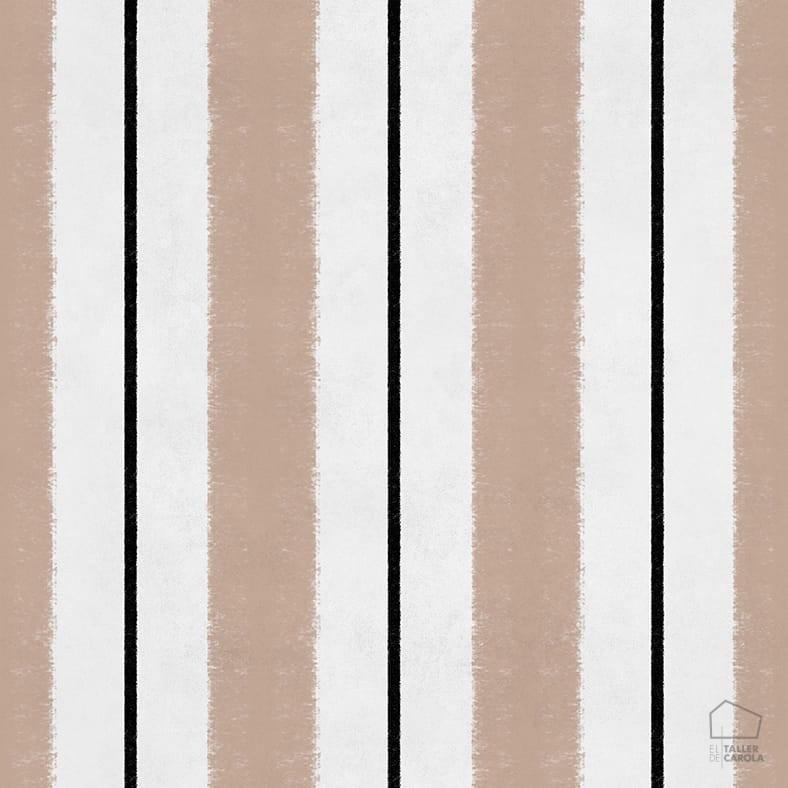 Papel Pintado RAC Rayas Cereza