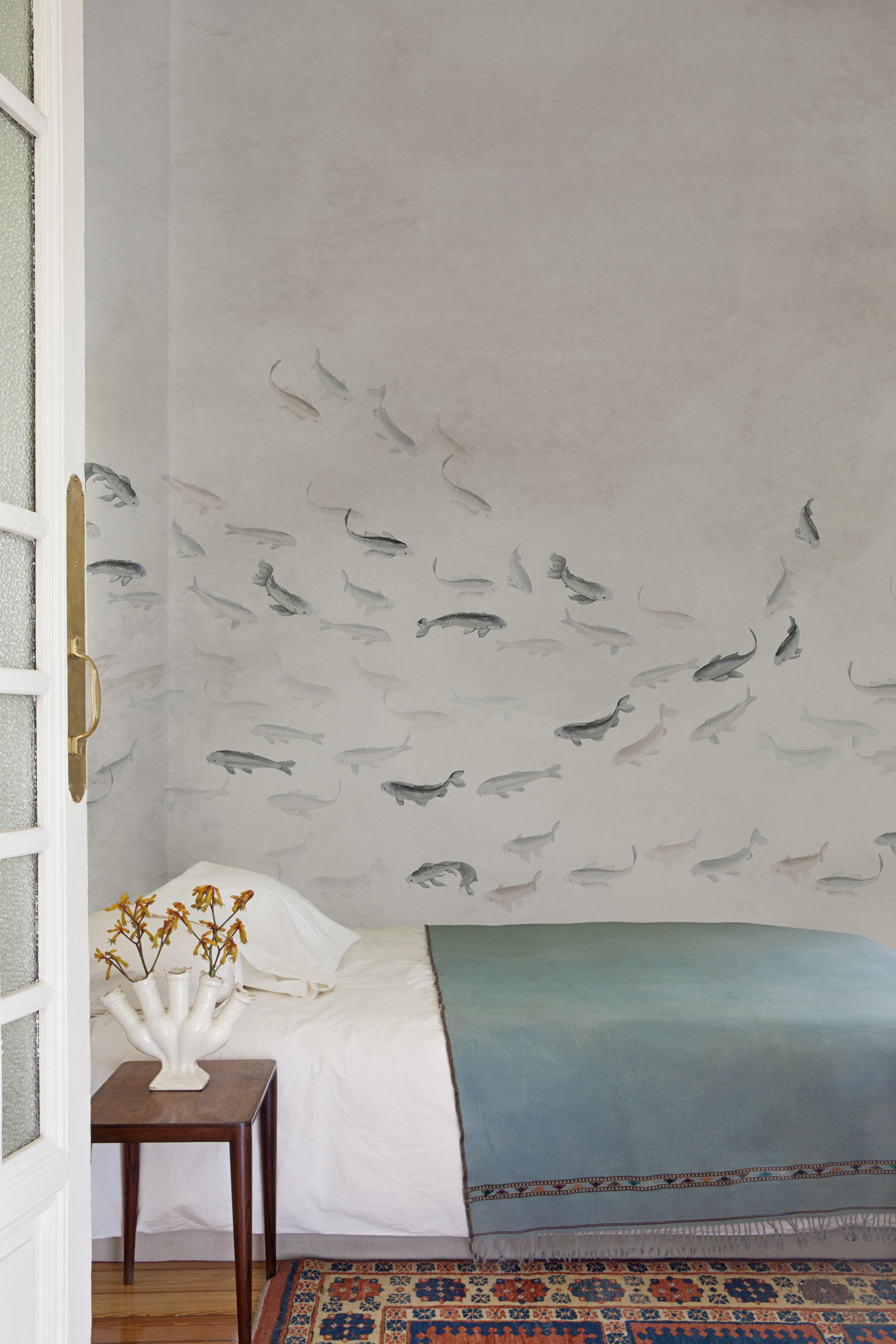 069koi6600081 papel pintado animales peces natural mural - Papel pintado animales ...