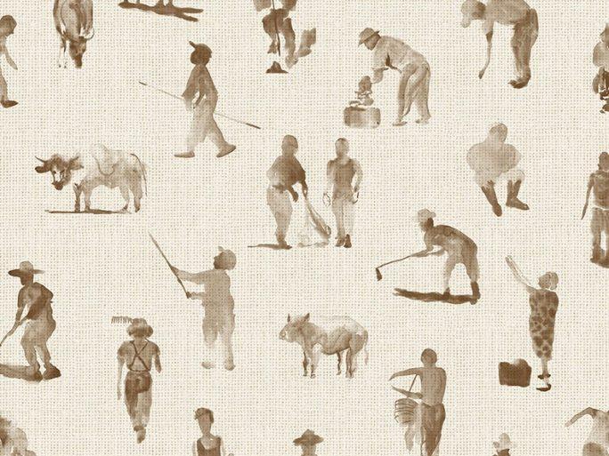 Papel Pintado Campesinos Topo