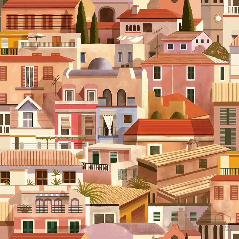 069mal-val8400050-papel-pintado-casitas-verano-rosa