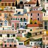 Papel Pintado Casitas Mediterráneo Colores