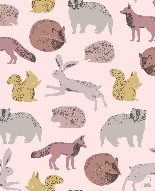 069min399052-papel-pintado-infantil-animalitos-rosa