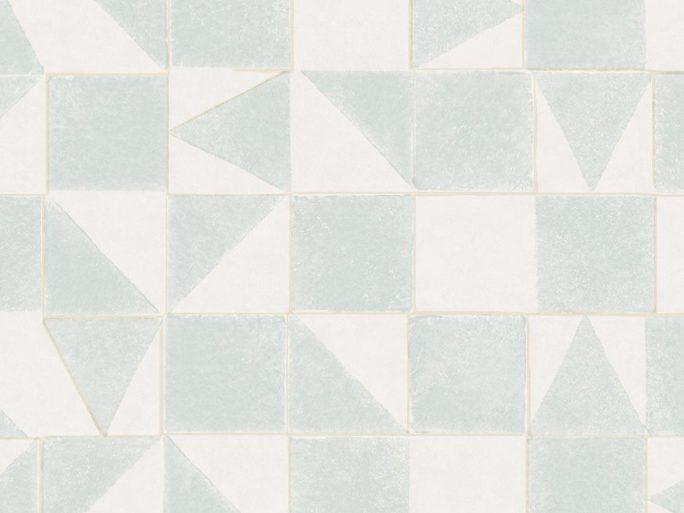 Papel Pintado MIN Geométrico Azul