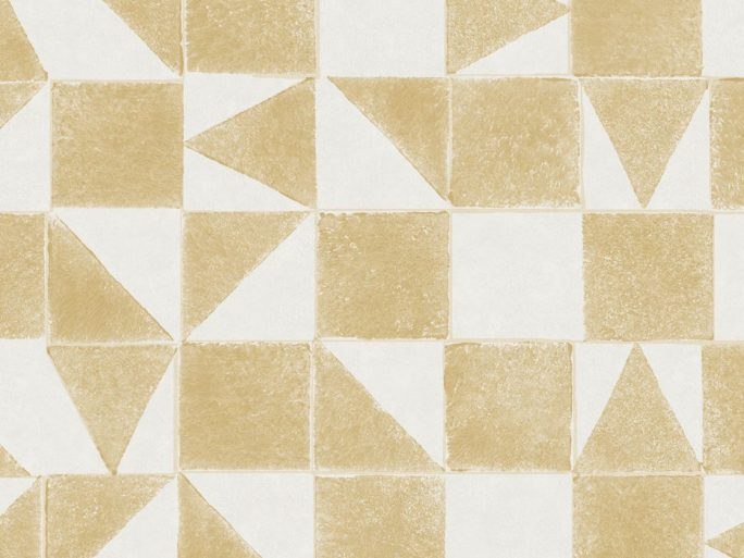 Papel Pintado MIN Geométrico Ocre