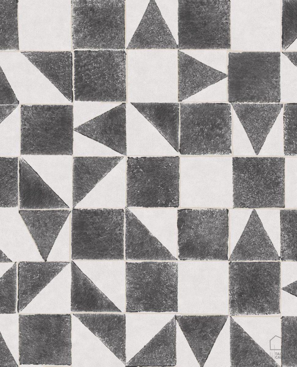 Papel Pintado MIN Geométrico Negro