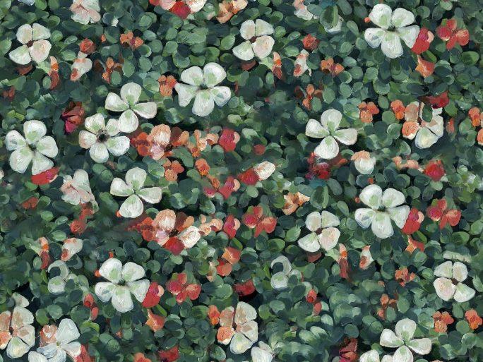 Papel Pintado FLOR Flores Verde