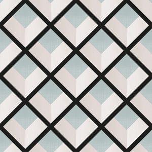 069vin6600012 Papel Pintado Geometrico Rombos Negro