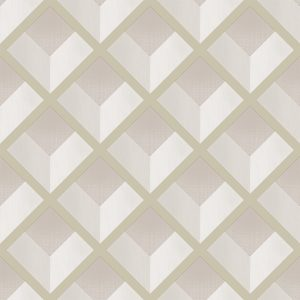 069vin6600013 Papel Pintado Geometrico Rombos Beige