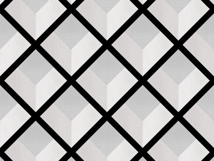 069vin6600014 Papel Pintado Geometrico Rombos Negro