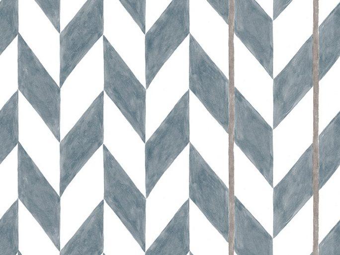 Papel Pintado ESP Geométrico Azul