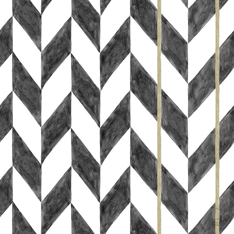 Papel Pintado ESP Geométrico Negro