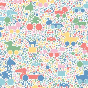 Papel Pintado Infantil BRI Juguetes Colores