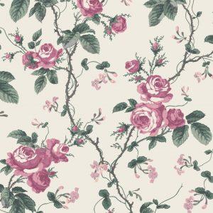 Papel Pintado FRE Flores Vintage Rosa