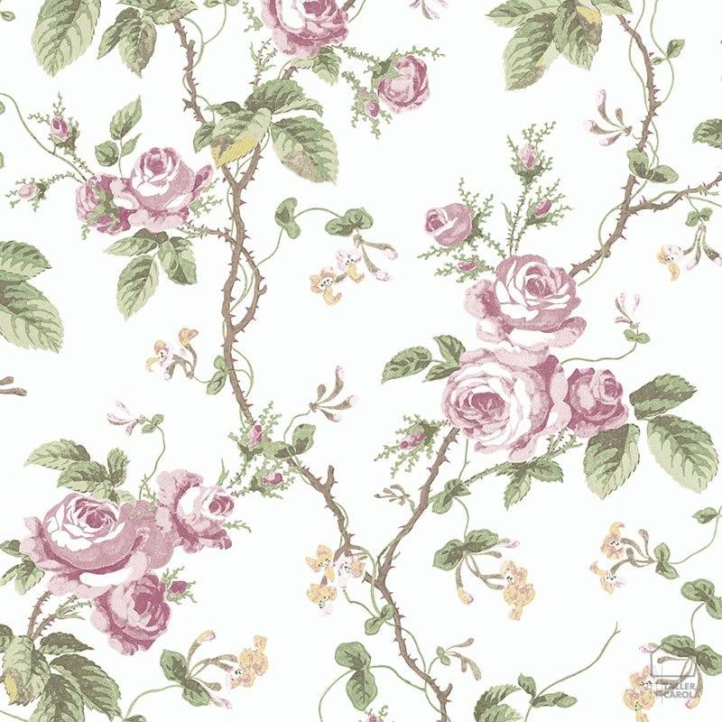 Papel Pintado FRE Flores Vintage Rosa Palo