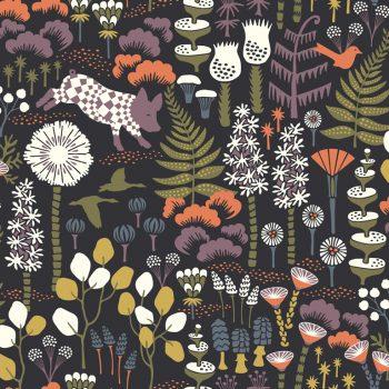 079hop1452 Papel Pintado Nórdico Bosque y Animales Color