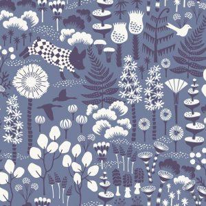 Papel Pintado Bosque Azul