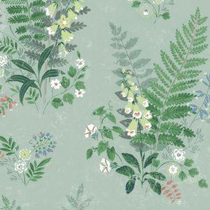 Papel Pintado FOX Flores Silvestres Verde