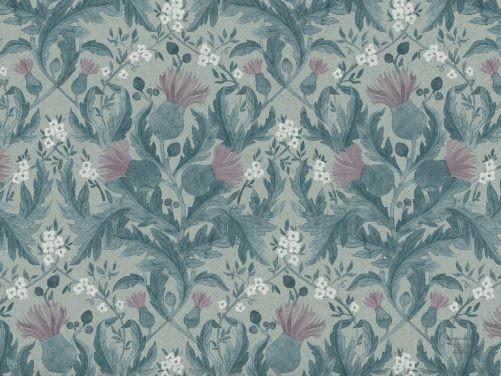 Papel Pintado THI Flores Vintage Azul 079inb-thi7204
