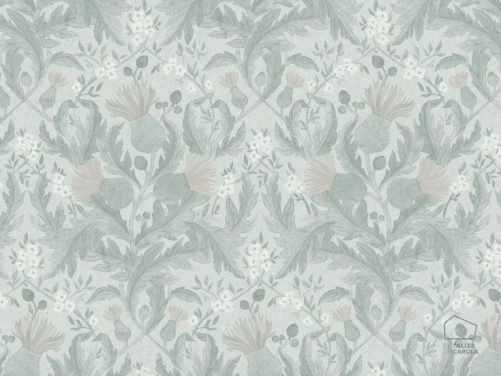 Papel Pintado THI Flores Vintage Gris 079inb-thi7205