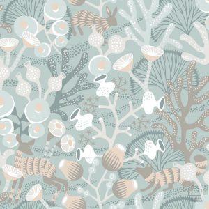 Papel Pintado Corales Verde Agua