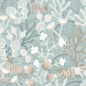 Papel Pintado KOR Corales Verde Agua