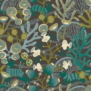 Papel Pintado KOR Corales Negro