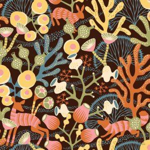 Papel Pintado Corales Naraja