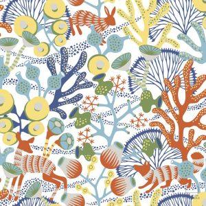 Papel Pintado KOR Corales Naranja