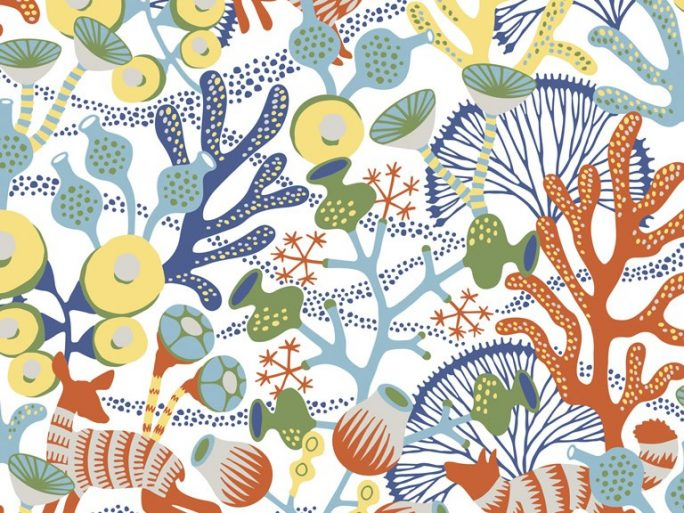 Papel Pintado Corales Naranja 079kor1462
