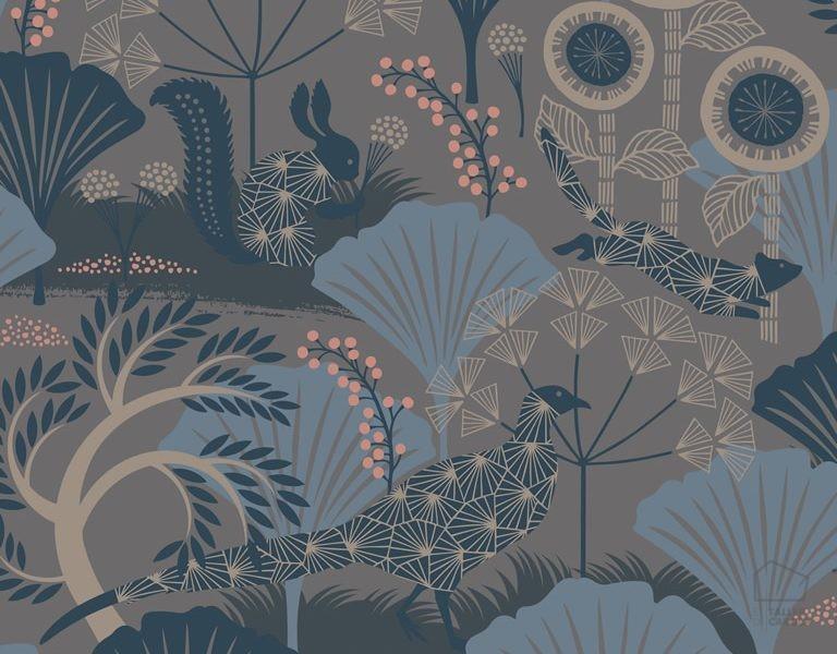 Papel pintado mar naturaleza topo el taller de carola for Papel pintado topos